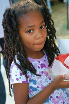 Young Locs - I wish I could take this girls pictures! Natural Hairstyles For Kids, Little Girl Hairstyles, Cool Hairstyles, Toddler Hairstyles, Teenage Hairstyles, Be Natural, Natural Hair Care, Natural Hair Styles, Natural Kids