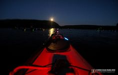 Bouncing Glowsticks - Annual night paddle at Devil's Lake State Park - www.devilslakewisconsin.com