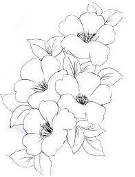 Resultado de imagen para flores de cerezo dibujo blanco y negro