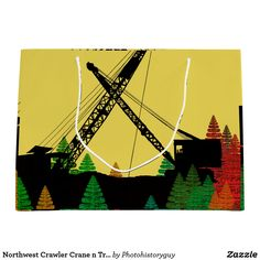 Northwest Crawler Crane n Track Fantasy Art
