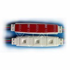 LED Modulo 4pz Diodi SMD5630 IP65 Bianco freddo  SKU: 5029   VT: VT-56304