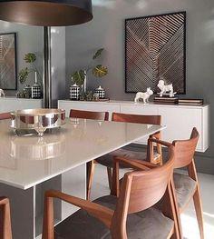Sala de jantar elegante e contemporânea para fechar a noite {} Projeto NR Arquitetura