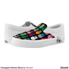 Pineapples Pattern Shoes Printed Shoes