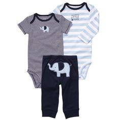 Amazon.com: Carter's Baby Boys' 3 Pc Turn Me Around Set: Infant And Toddler Pants Clothing Sets: Clothing