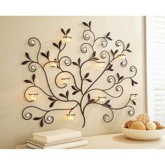 Better Homes and Gardens Tree Votive Sconce, Oil-Rubbed Bronze: Decor : Walmart.com- for master bath behind tub wall ?