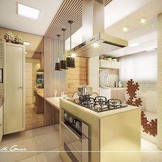 ARTE DE FAZER COZINHA BONITA!!! • KITCHEN • PROJETO N|P. #By @keyllagarcia_arquitetura. Produto Cerâmica Portinari - Sides HD.Relevo, 3D, cozinha, kitchen, cocina.
