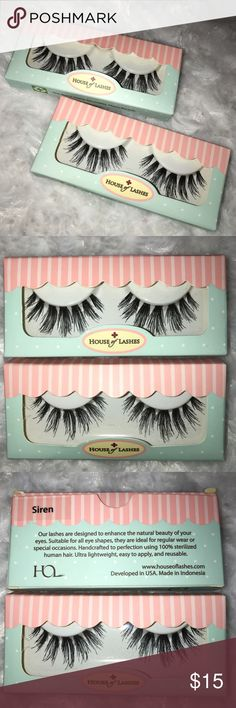 House of Lashes- Siren Brand new. never been used. Really nice and thick looking lashes, but still very light on the eyes. Will make your eyes pop! Makeup False Eyelashes