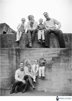 Family Photo by Sarah Deragon..family looking below or could do a shot from above