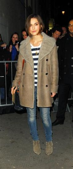 I'd look like a mad cat lady in that coat but she looks great!