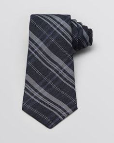 John Varvatos Woven Plaid Classic Tie