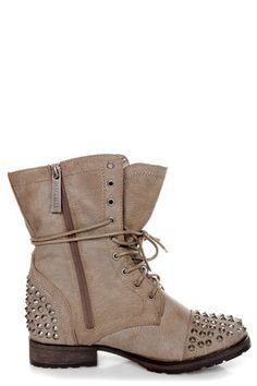 Studded Combat Boots ! Need? Um I think yes!