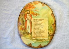 Vintage Religious Plaque The Lord Is My by VintagePlusCrafts, $8.00