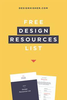 Free Design Resources List!