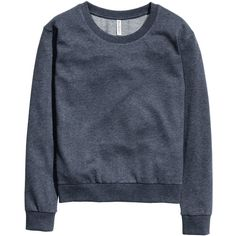 H&M Sweatshirt (€11) ❤ liked on Polyvore featuring tops, hoodies, sweatshirts, navy blue, navy blue tops, sweat shirts, navy sweatshirt, blue sweatshirt and navy sweatshirt hoodies