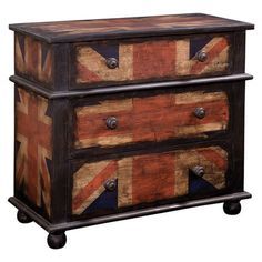 I pinned this Union Jack Chest from the Bassett Mirror Co. event at Joss and Main!
