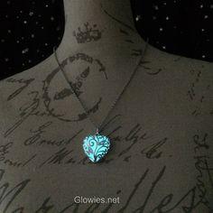Glowies Glow Jewelry - Heart of Winter Frozen Forest Glow in the Dark Necklace