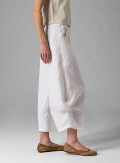 Linen Flared Leg Crop Pants - Plus Size Miss Me Outfits, Boho Outfits, Fashion Outfits, Wide Pants, Cropped Pants, Fashion Pants, Boho Fashion, Kaftan Designs, Flare Leg Pants