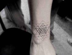 Minimal Geometric Tattoo On Arm - Tattoos any where any thing