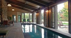 Love the idea of an indoor pool but with doors to vent the air and chlorine smell.