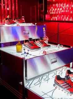 adidas springblade pop-up innovation lab in seoul by urbantainer - designboom   architecture & design magazine