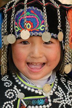 Happy Hani girl, Yuanyang, China