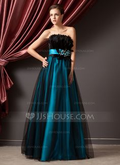 Prom Dresses - $149.99 - A-Line/Princess Strapless Floor-Length Tulle Charmeuse Prom Dress With Beading Feather Sequins (018014241) http://jjshouse.com/A-Line-Princess-Strapless-Floor-Length-Tulle-Charmeuse-Prom-Dress-With-Beading-Feather-Sequins-018014241-g14241?ver=n1ug2t&ves=vnlx6