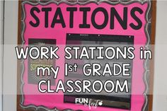 Get a glimpse into how work stations and small group reading is working right now in my grade classroom, including resources and ideas. Classroom Language, Classroom Setup, Classroom Organization, Classroom Management, Behavior Management, Teacher Sites, Teacher Boards, Teacher Stuff, Reading Stations