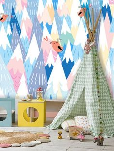 Turning the shabby chic nursery corner into a fun play area with teepee