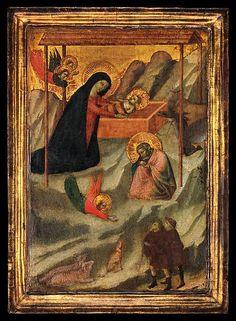 The Nativity - tempera e fondo oro su legno (ca.1320-1340) - seguace di Bernardo Daddi - Metropolitan