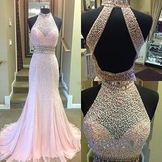 Prom Dress, Gorgeous long Prom Dress,High Quality Prom Dress,Prom Dresses ,Pink mermaid Prom Gowns,High Neck Halter Pearl Beaded Evening Dress,Formal Dressn,Lace Evening Dresses,Wedding Guest Prom Gowns, Formal Occasion Dresses,Formal Dress