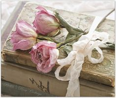 Shabby Chic uploaded by Patty Plummer Vogl on We Heart It Fleurs Style Shabby Chic, Shabby Chic Decor, Book Flowers, Dried Flowers, Vintage Accessoires, Drying Roses, Inspiration Artistique, A Course In Miracles, Romantic Roses