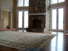 (BrandonRugs.com) The order of the addends DOES affect the sum. Our customer building a new home in Washington Crossing, PA picked the rug for her family room long before the builders were finished in the room. A hand-knotted silk and wool Indian Agra rug awaits move-in day.