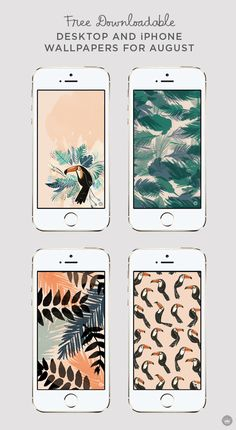 Add a splash of tropical style to your phone screen for August with these free downloadable desktop and iPhone wallpapers. Download these August digital wallpapers on Think.Make.Share., a blog from the creative studios at Hallmark!