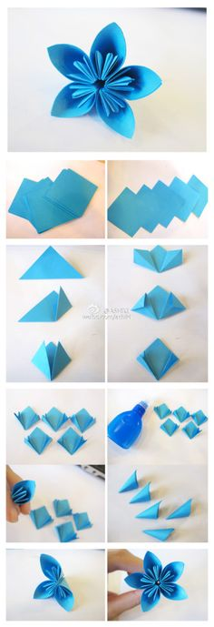 70 Ideas For Origami Paso A Paso Pikachu Origami And Quilling, Origami Flowers, Origami Paper, Paper Flowers, Oragami, How To Make Origami, Useful Origami, Hobbies And Crafts, Diy And Crafts