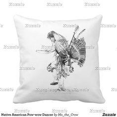 Native American Pow-wow Dancer Throw Pillow