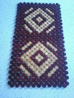 Dark Brown and light brown beaded table mat. Beadwork, Beading, Beaded Bags, Jewel Box, Diwali, Bag Making, Clutch Bag, Dark Brown, Designers