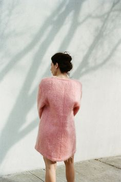 Datura Blog - Eliza Bagg wearing our Candy Rose Mohair Sweater Dress