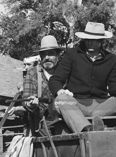 PRAIRIE -- 'The Empire Builders' Episode 9 -- Aired 11/22/82 -- Pictured: (l-r) Victor French as Isaiah Edwards, Dean Butler as Almanzo Wilder