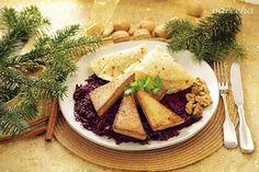 Pečené Tofu s červenou kapustou (videorecept) - recept | Varecha.sk Tofu, Camembert Cheese, Tacos, Mexican, Ethnic Recipes, Mexicans