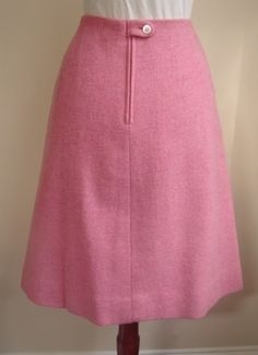 Pink wool Villager A-line skirt  When I made wool skirts, I would always make the tab at the back so it would look like Villager.