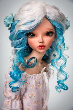 """Angora wig """"Secret garden"""" for MSD Doll Wigs, Doll Hair, Blythe Dolls, Ooak Dolls, Big Eyes Artist, Custom Monster High Dolls, Realistic Dolls, Anime Dolls, Wig Making"""