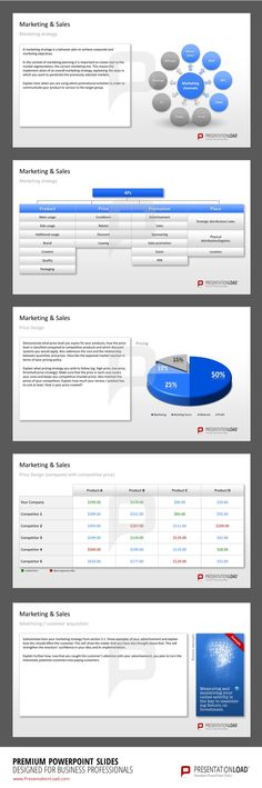Business Plan PowerPoint Templates. Overview over Marketing & Product developing slides.     #presentationload   www.presentationl...