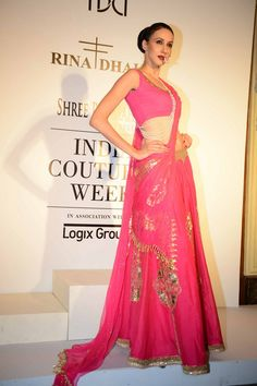 Rina Dhaka at Delhi couture week 2014.  #perniaspopupshop #designer #label #love #coutureweek #Delhi #divine #bold #beautiful #artistic #creative #fashion #style #attractive #exquisite #gorgeous #lehenga #choli #indian #hp #shaadi #bridal #fashion #style #desi #designer #blouse #wedding #gorgeous #beautiful