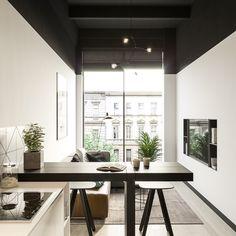 Loft Design by Andrey Kabanov Interior Design Examples, Loft Interior Design, Interior Design Inspiration, Interior Decorating, Decorating Ideas, Futuristisches Design, Loft Design, Design Ideas, Small Apartment Interior