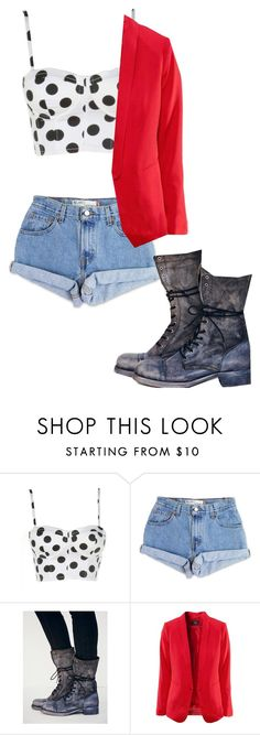 """""""Untitled #86"""" by lydia-loucks ❤ liked on Polyvore featuring Levi's and Free People"""