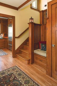 Moving the stairs allowed the entire floor to work better and added period detail. The attractive new staircase is open, connecting three floors.