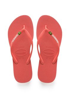 Havaianas Slim Brazil Sandal Coral  Price From: 35,38$CA  https://flopstore.ca/ca_french/new-arrivals/havaianas-slim-brazil-sandal-coral.html