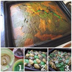 Greatfun4kids: Army Party: Camouflage Birthday Cake & Cupcakes