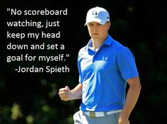 Wondering how young Jordan Spieth won this weekend? Focus. #GolfQuotes #LoveGolf #AugustaNational #MastersWeekend #MastersChampion #JordanSpieth #Focus #GolfWisdom #2ndSwingGolf