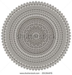 Set Of Ornamental Indian Elements And Symbols Stock Vector 159081248 : Shutterstock Mandala Coloring, Colouring, Coloring Book Pages, One And Only, Pencil Drawings, I Tattoo, Print Patterns, Mandala Book, Body Art